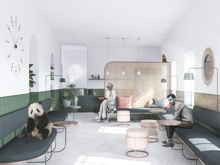 Bee Breeders Announce Winners of the Urban Zoo Coworking Competition, First Prize: The Menagerie. Image © Studio Mas