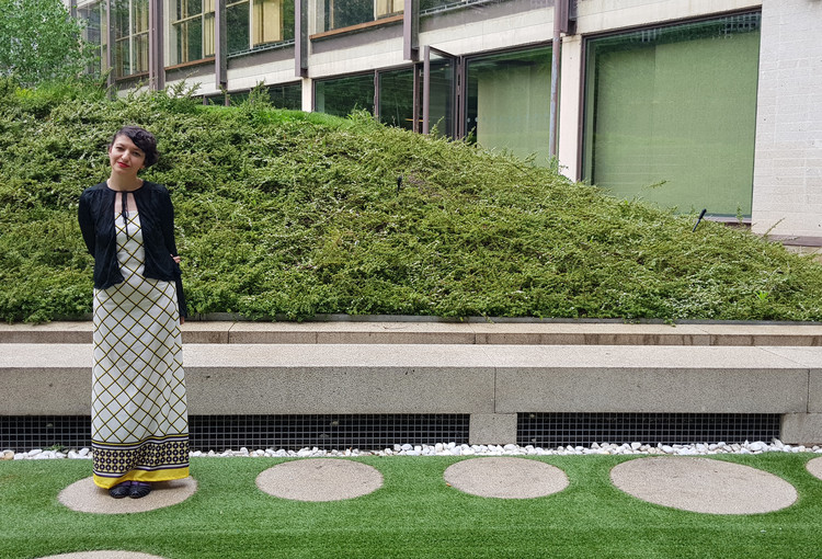 """Izaskun Chinchilla: """"Las ciudades están hechas por y para hombres"""", Izaskun Chinchilla en la sede del Colegio Oficial de Arquitectos de Madrid (COAM) en Madrid, España. Image © Nicolás Valencia"""