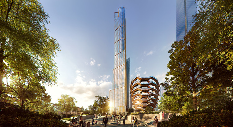 SOM Reveals 35 Hudson Yards Tower for New York, 35 Hudson Yards. Image Courtesy of Related Oxford
