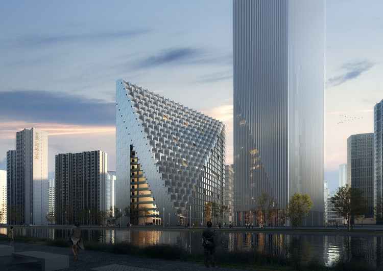 OMA's Xinhu Hangzhou Prism Breaks Ground in the City's Future CBD, Courtesy of OMA, by Boomimages