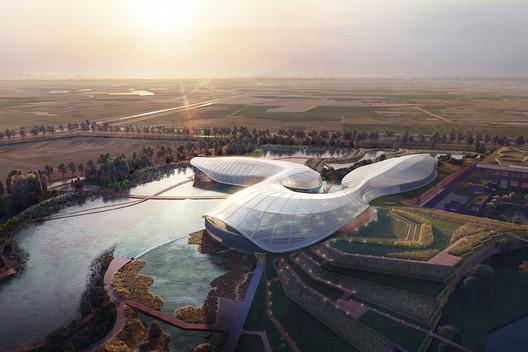 Shanghai Yangtze River Estuary Chinese Sturgeon Nature Preserve. Image Courtesy of Ennead Architects