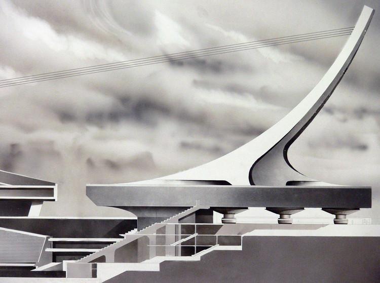 Série de desenhos à mão destaca a complexidade estrutural da arquitetura de estádios, © Mohammad Pirdavari