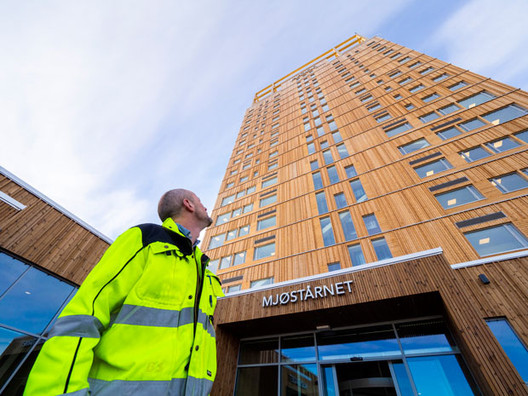 CTBUH Names Norway's Mjøstårnet the Tallest Timber Building in the World, Courtesy of CTBUH