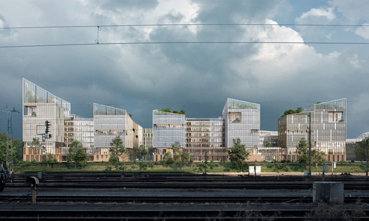 Henning Larsen's Paris Office Complex Merges Working and Living, Inspired by French Rural Villages