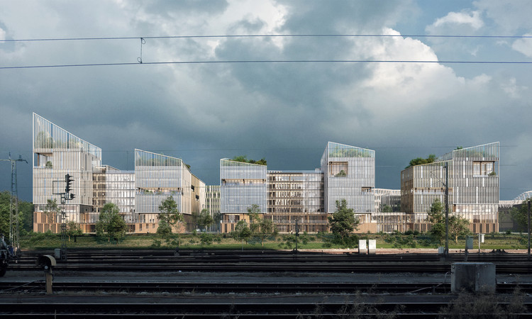 Henning Larsen's Paris Office Complex Merges Working and Living, Inspired by French Rural Villages, Courtesy of Henning Larsen