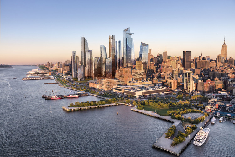 New York City's Hudson Yards Is Finally Open to the Public, Aerial View of Hudson Yards. Image Courtesy of Related-Oxford