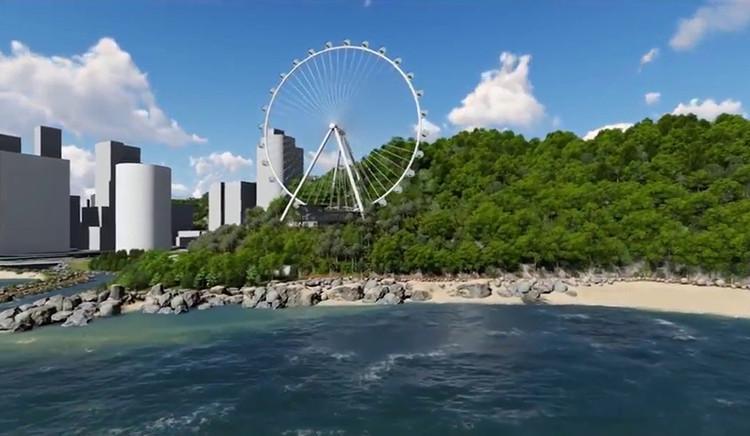 Roda-gigante de Balneário Camboriú viola legislação ambiental, diz Ministério Público de SC, Imagem: Big Wheel S.A./Reprodução