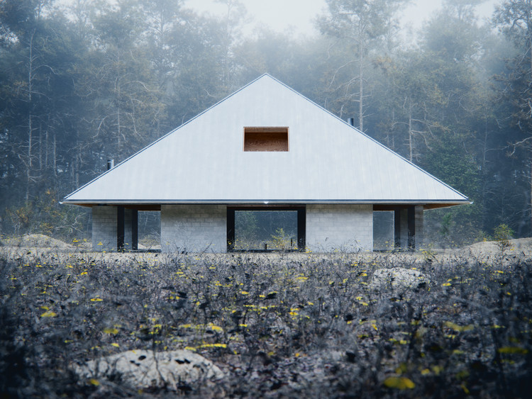 WOJR Explores Symmetry in House of the Woodland, House of the Woodland. Image Courtesy of D-Render