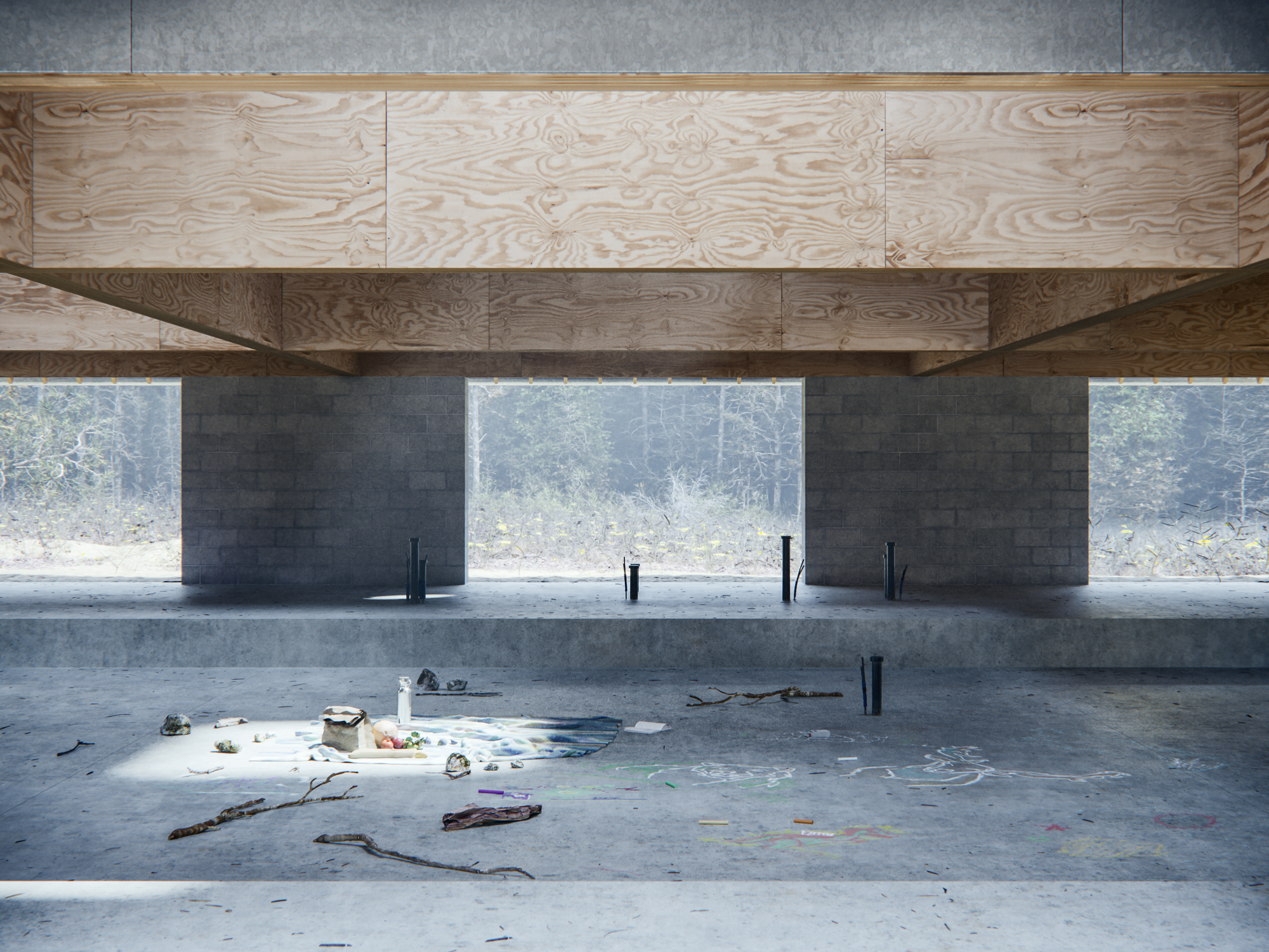 Gallery of WOJR Explores Symmetry in House of the Woodland - 2