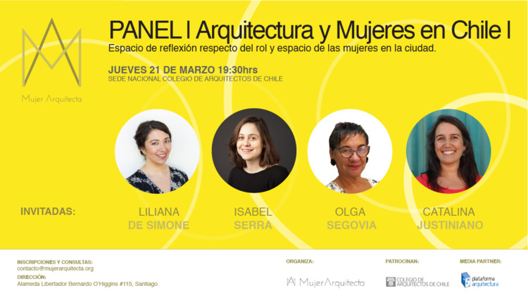 Panel de arquitectura y mujeres en Chile: ciudad y género