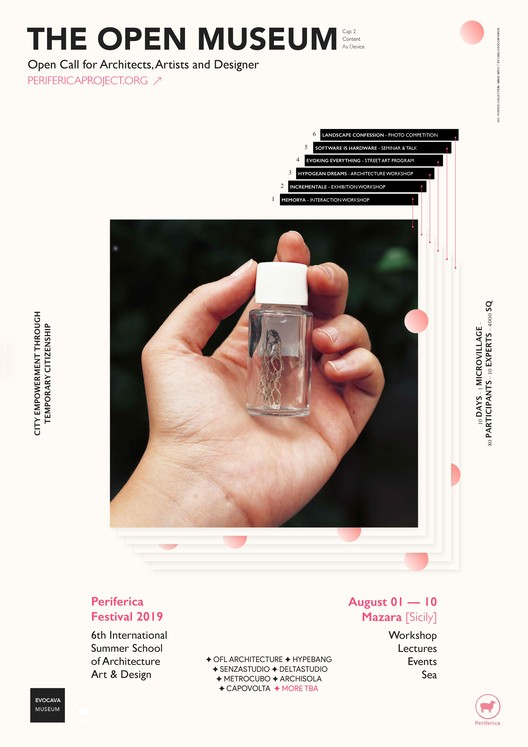 Periferica Workshop: The Open Museum [Architecture + SelfConstruction], Official Poster