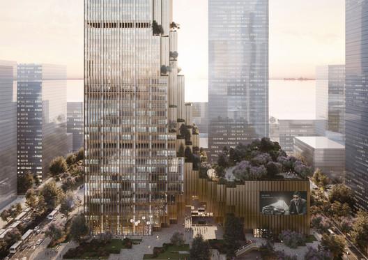Mecanoo Designs Bronze Skyscraper for World's Largest Weaving Enterprise in Shenzhen