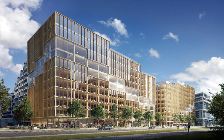 3XN Designs the Tallest Timber Office Building in North America, © 3XN