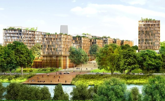 Paris 2024 Athletes' Village. Image Courtesy of Dominique Perrault Architecture