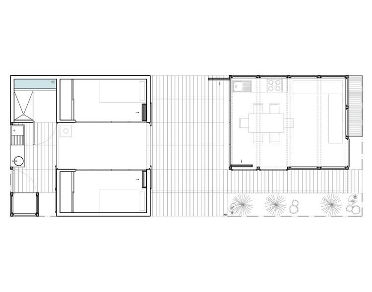 Planta - Casa Coberta / Comunidade Vivex