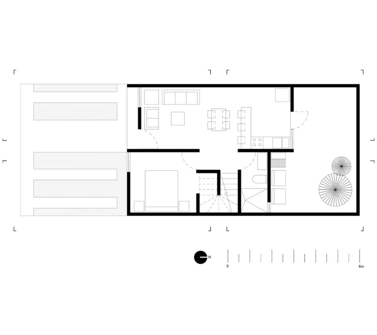 Planta - Casa San Ignacio / IX2 Arquitectura