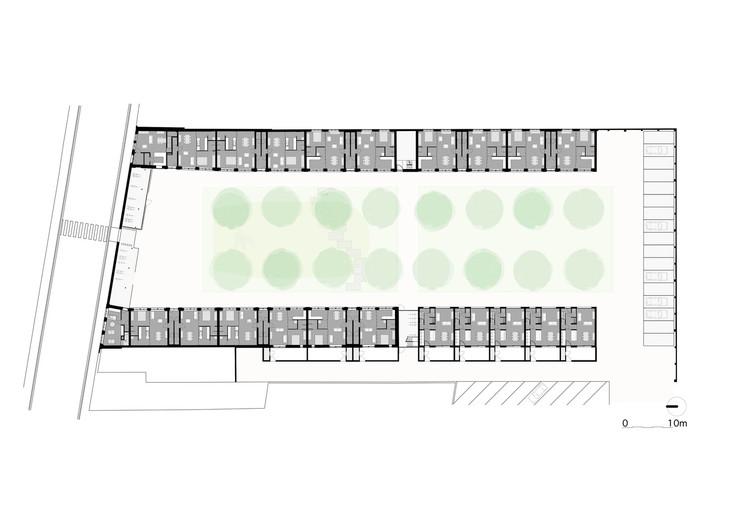 Planta - Renovação de Habitações Sociais em Izegem / Architect Lieven Dejaeghere