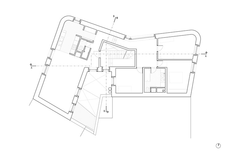 Planta - 5 Unidades de Habitação Social em Navez / MSA / V+