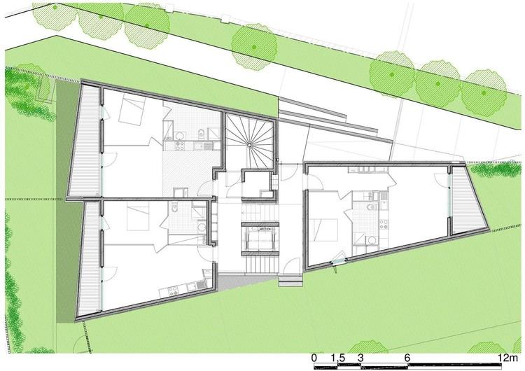 Planta - Habitação Social em Nice / COMTE et VOLLENWEIDER Architectes