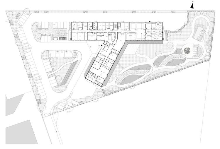 Planta - Casa de Repouso Morangis / VOUS ETES ICI Architectes