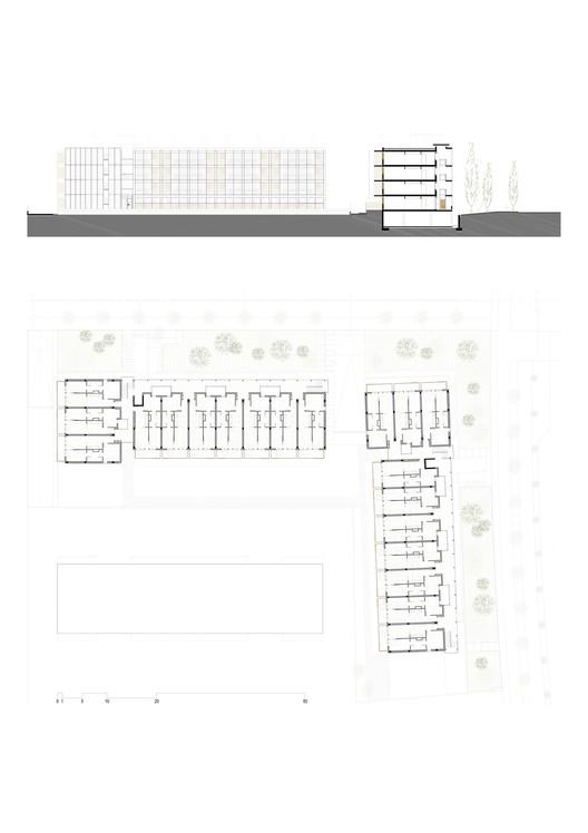 Planta - 80 Habitações de Proteção Oficial em Salou / Toni Gironès