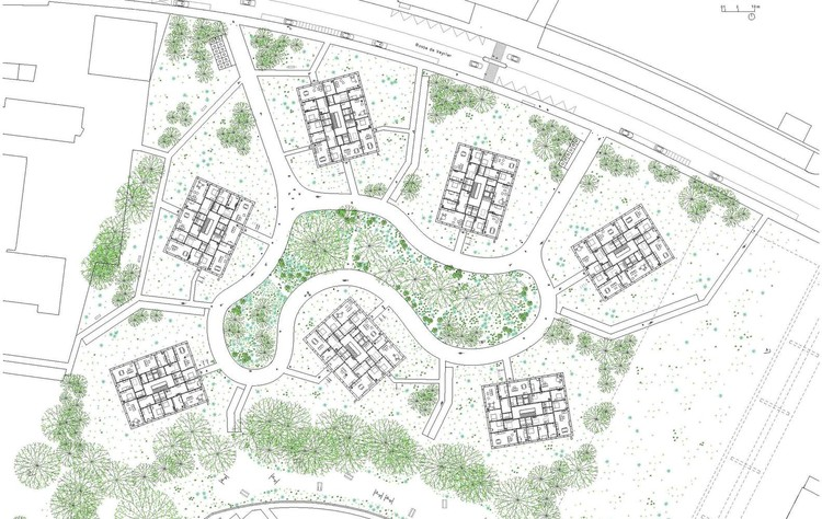 Planta - La Fontenette Social Housing / frundgallina