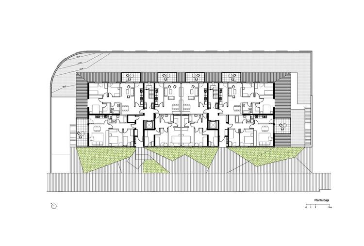 Planta - Conjunto Habitacional em Gavá / Pich-Aguilera Architects