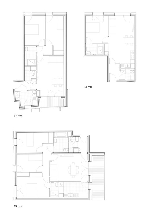 Planta - Habitação Social 38 / Avenier Cornejo Architectes