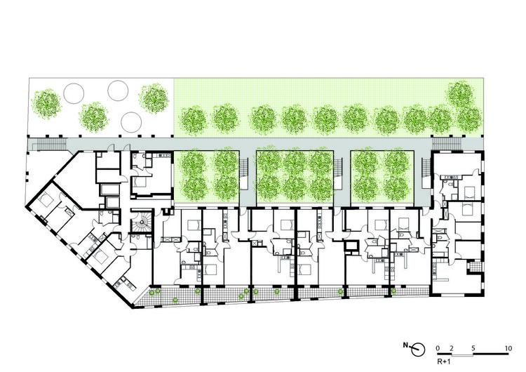 Planta - Habitação Social /Atelier du Pont
