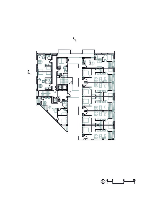 Planta - Mix Dwelling Building at 22@ / Coll-Leclerc