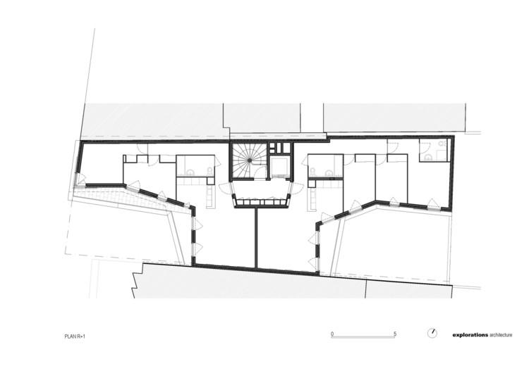Planta - Edifício Residencial Rue Du Chateau Des Rentiers / Explorations Architecture