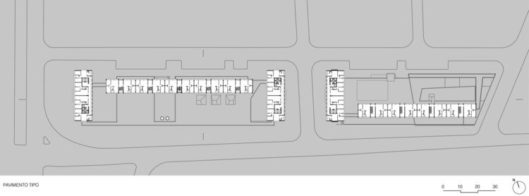 Planta - Conjunto Habitacional do Jardim Edite / MMBB Arquitetos + H+F Arquitetos