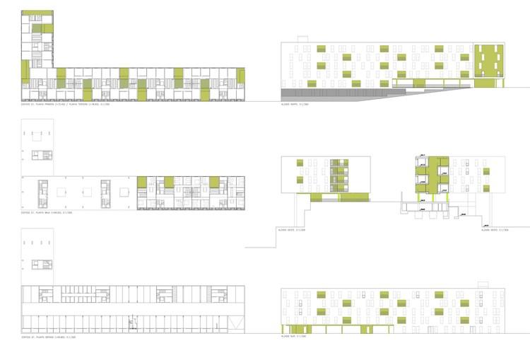 Planta - 317 Unidades Habitacionais Populares / SV60