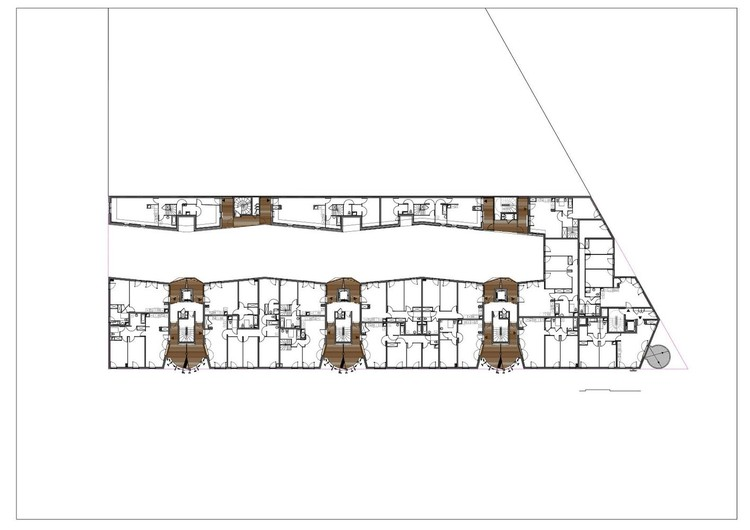 Planta - Rive Seine / Tetrarc Architects