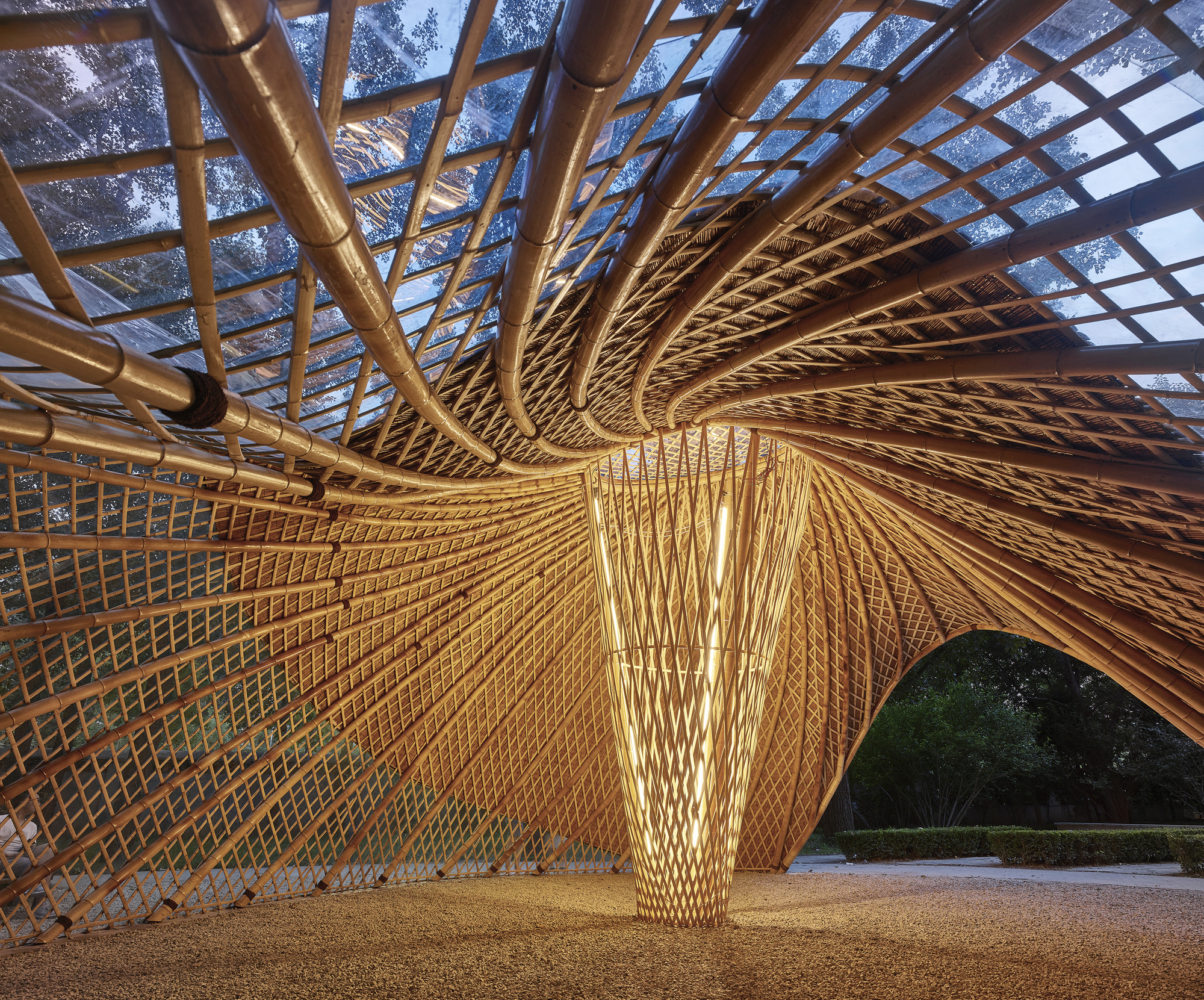 Gallery Of Swirling Cloud Bulletin Pavilion For Bjfu