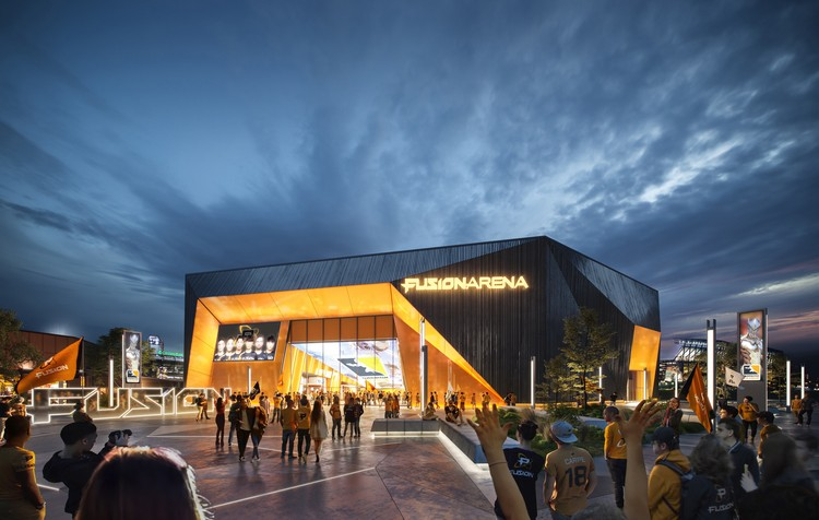 Populous Designs the Western Hemisphere's Largest Esports Arena, Fusion Arena. Image Courtesy of Populous