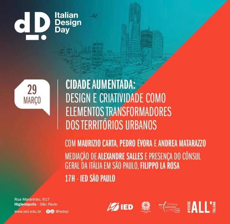 """Italian Design Day – Maurizio Carta discute no IED a """"cidade aumentada"""""""