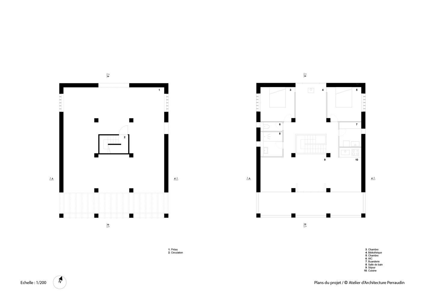 plan de maison 9*10