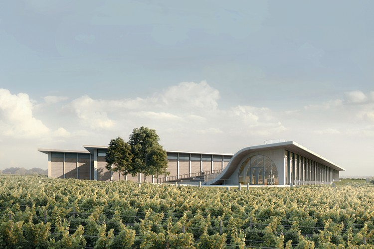 CHYBIK + KRISTOF Begins Construction of Arched Winery and Amphitheater in the Czech Republic, Courtesy of CHYBIK + KRISTOF