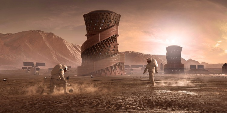 SEArch+ and Apis Cor Win Latest NASA Competition for 3D Printed Habitats on Mars, © SEArch+