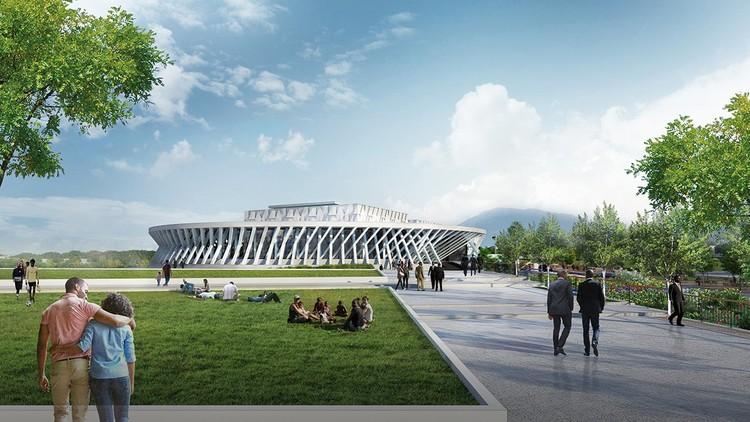 Conoce el diseño del nuevo parlamento de Jamaica, Houses of Parliament. Imagen cortesía de Hines Architecture + Design & Design Collaborative