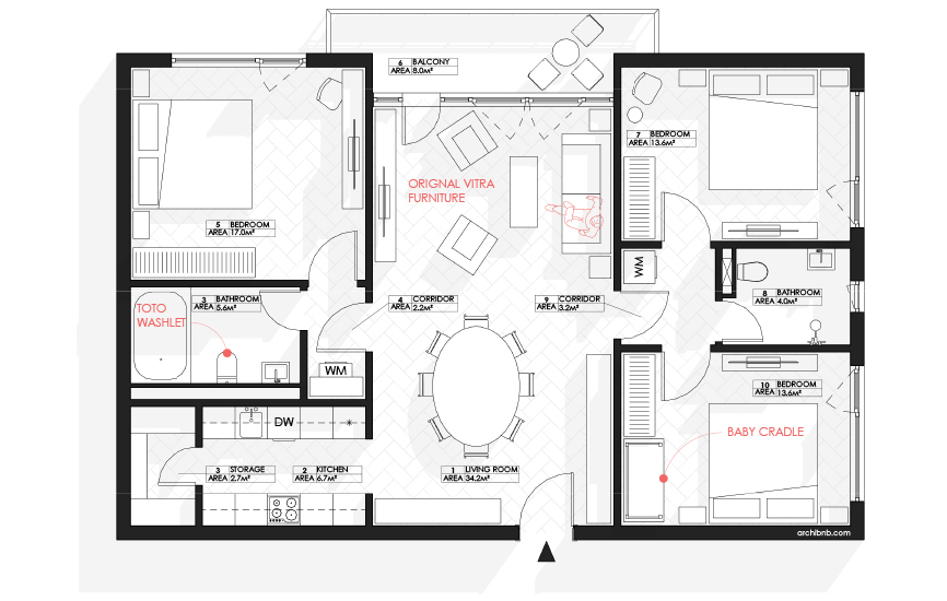Gallery Of Archibnb Draws Architectural Floor Plans For