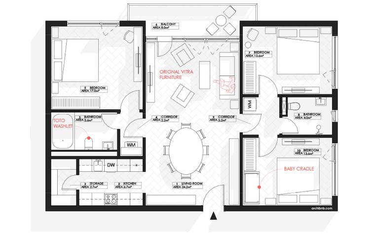 Archibnb Draws Architectural Floor Plans For Your Airbnb Listings Archdaily