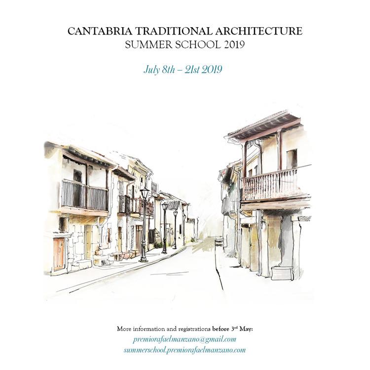Cantabria Traditional Architecture Summer School 2019, Cartel de la Escuela de Verano