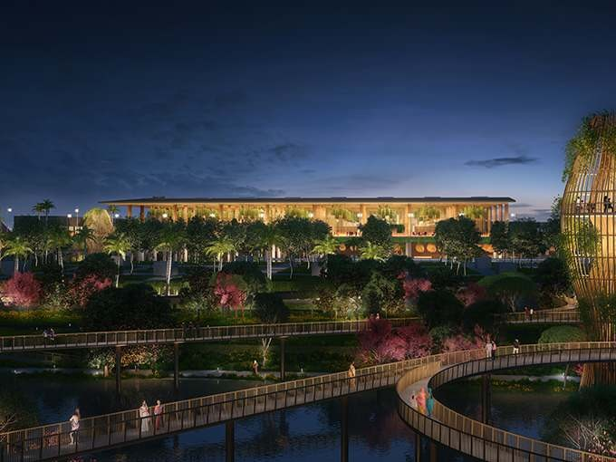 SOM projeta terminal-jardim para o Aeroporto Internacional de Kempegowda na Índia, © SOM / ATCHAIN