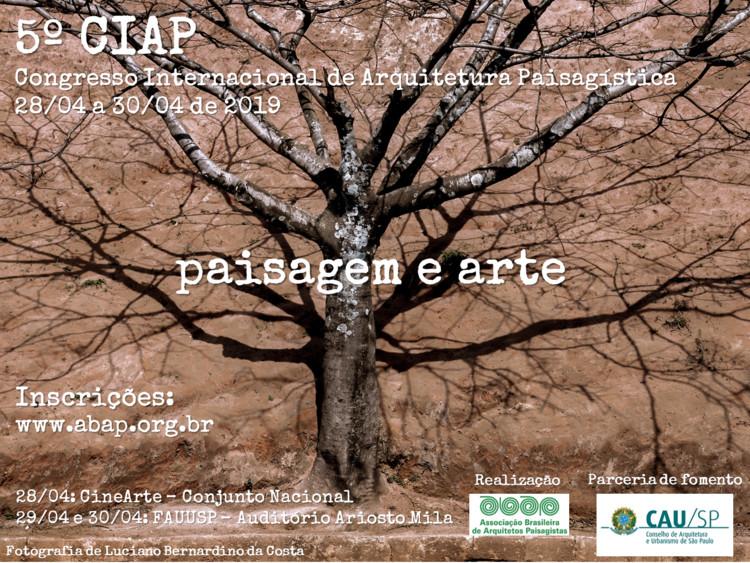 5º CIAP - Paisagem e Arte, Cartaz de divulgação do 5º CIAP PAISAGEM E ARTE