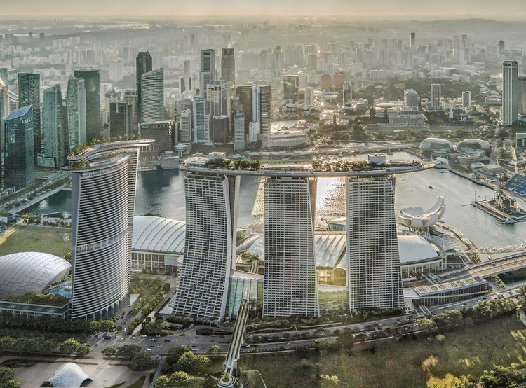 Safdie Architects Design a Fourth Tower for Marina Bay Sands in Singapore, Courtesy of Safdie Architects
