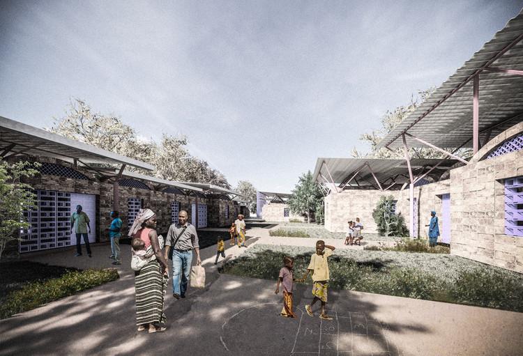 "Burckhardt+Partner's Vaulted Brick School in Malawi ""Opens Up to the Local Village"", © Burckhardt+Partner"