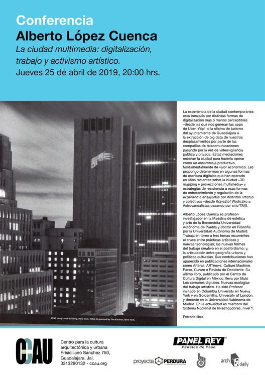 La ciudad multimedia: digitalización, trabajo y activismo artístico. Impartida por Alberto López Cuenca, ccau