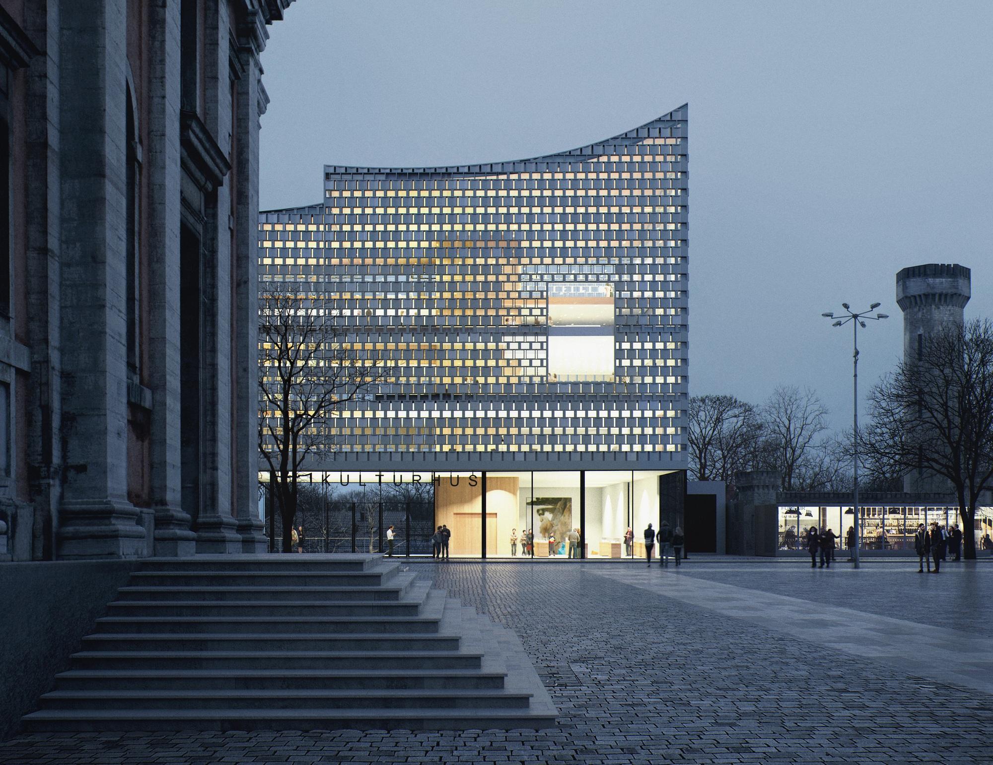 dorte mandrup designs swedish culture house in karlskrona